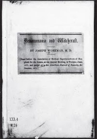 Cover of Joseph Workman's Book Demonomania And Witchcraft