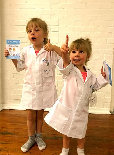 Mini Professors lab coats