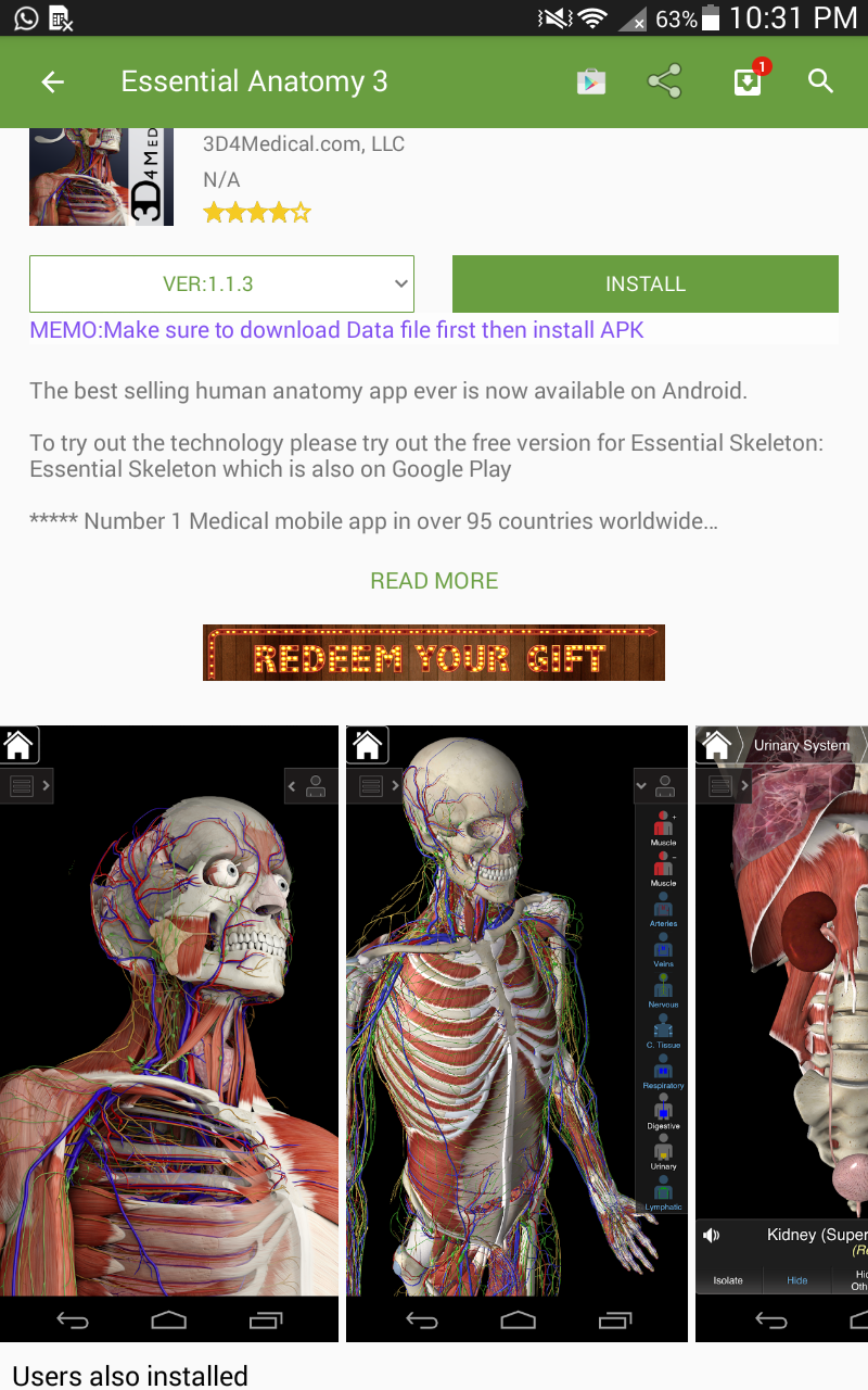 Essential Anatomy 3 For Android Adenists