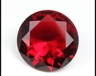 Glass Gemstones Ruby colored stones wholesale