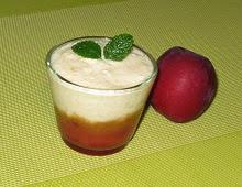Mousse à la pomme citron sur coulis de nectarine