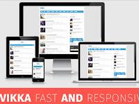 Download Template Vikka Responsive Blogger Gratis