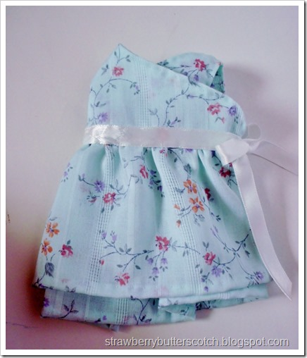 Cute wrap top for a doll.