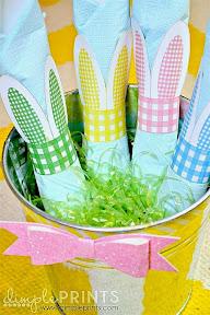 DIY rond de serviette Pâques oreilles de lapin