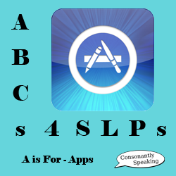 ABCs 4 SLPs A is for Apps icon