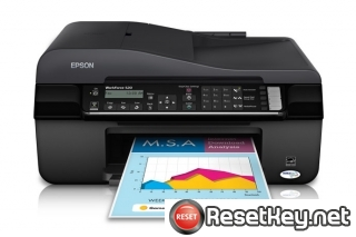 Reset Epson WorkForce 520 printer Waste Ink Pads Counter