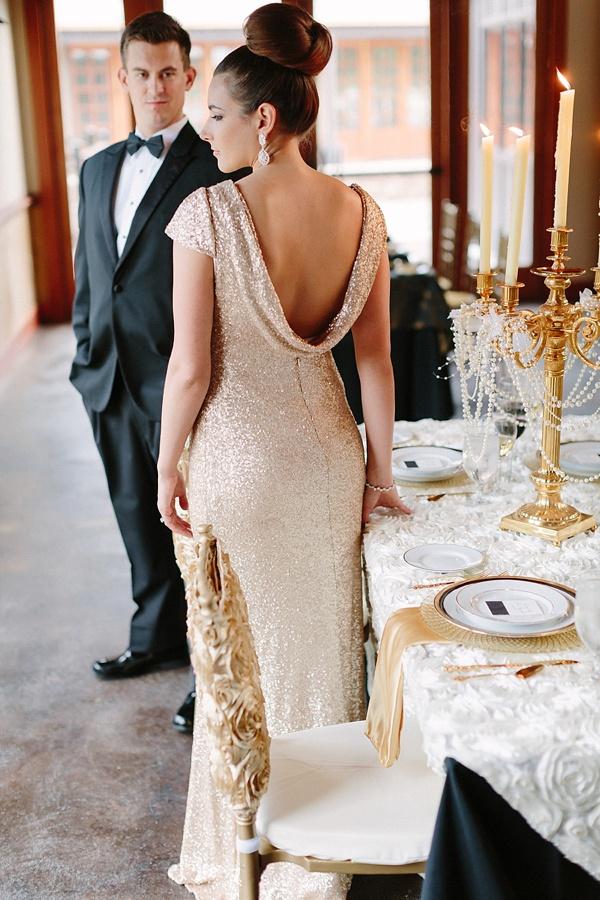 Glamorous New Years Eve Wedding Inspiration Tidewater