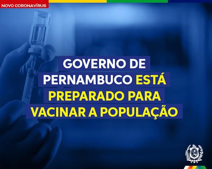 Governo de Pernambuco diz que está preparado para vacinar população