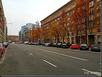 Novembro no centro de Varsóvia
