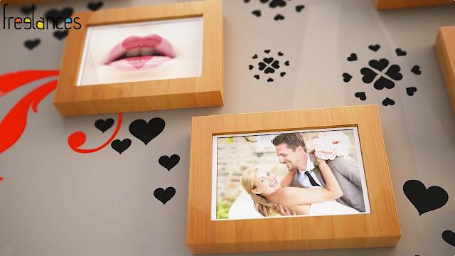 diaporama vidéo mariage modèle cadres photos photo focalisation 04