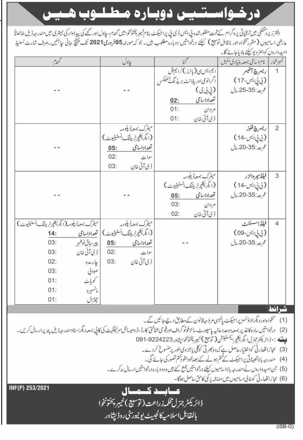 Jobs in Agriculture Department Jobs 2021