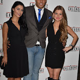 OIC - ENTSIMAGES.COM - Cally Jane Beech, Luis Morrison  and Miss Great Brittain Zara Holland at the  Mr Calzaghe - gala film screening in London 18th November 2015Photo Mobis Photos/OIC 0203 174 1069