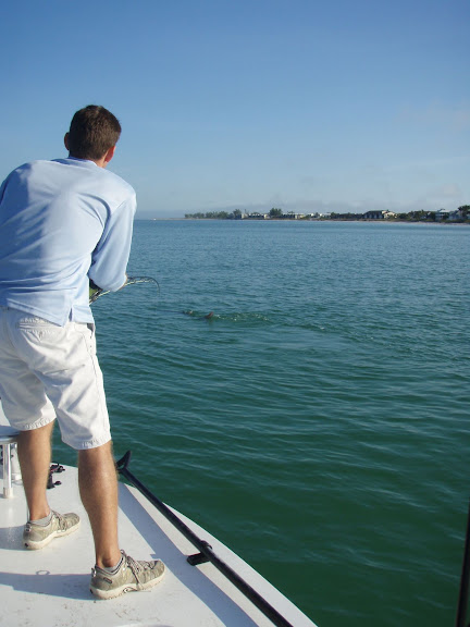 Fighting a Boca Grande Tarpon on Fly