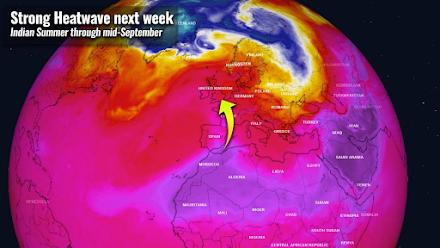 Κύμα έντονης ζέστης στην δυτική Ευρώπη σε επίπεδα καύσωνα - Τάση επέκτασης και στην νοτιοανατολική Ευρώπη