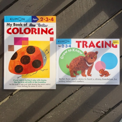 Kumon homeschool workbook preschool coloring tracing education thedailyaprilnava atlanta georgia top mom mommy blogger