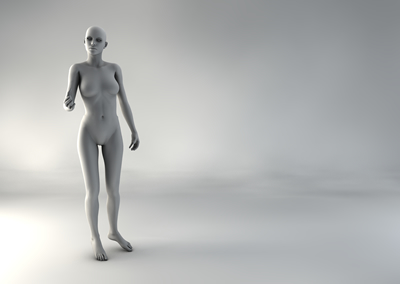 femme 3D pose naturelle BH 01
