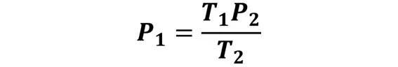 Las leyes de los gases: de boyle, de Charles, de Gay Lussac, de Avogadro y de Dalton - Despeje de la ley de Gay-Lussac cuando se desconoce P1 pero se conoce P2, T1 y T2 - sdce.es - sitio de consulta escolar