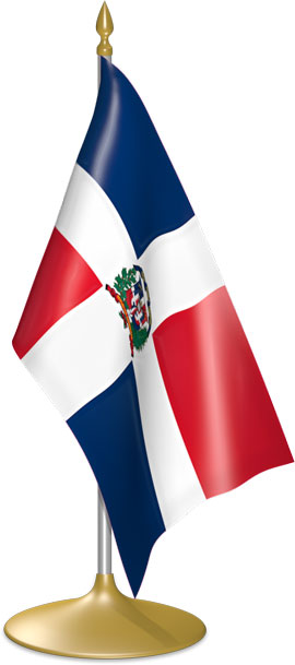 Dominican table flags - desk flags
