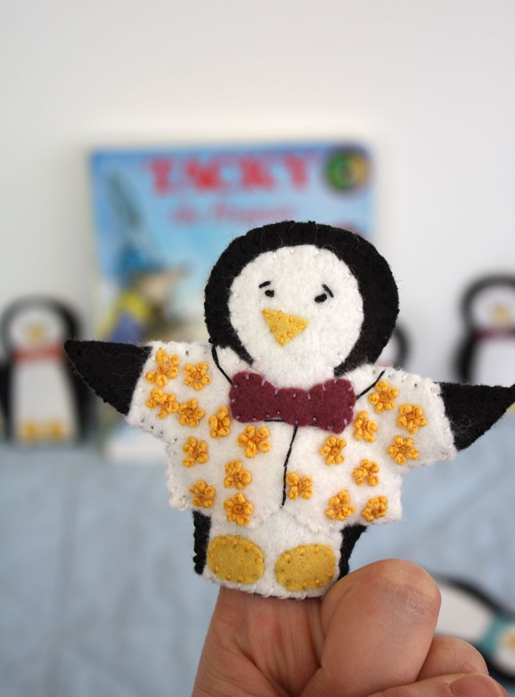 Tacky The Penguin Finger Puppets With Free Pattern