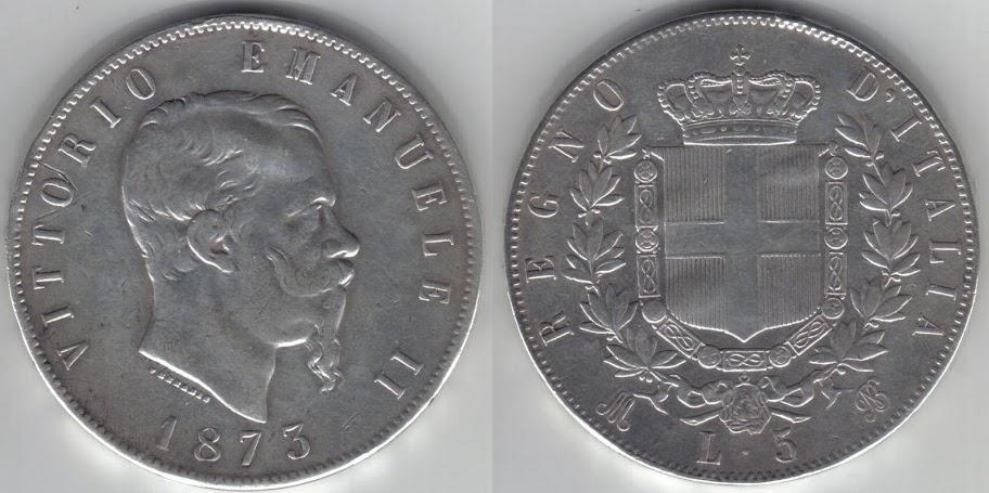 Mi colección de monedas italianas. 5%20liras%201873%20M
