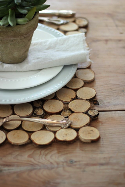 placemat wood slice