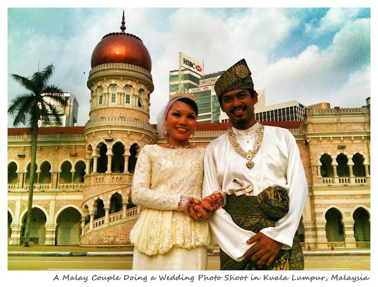 Malay Couple Doing a Wedding Photo Shoot in Kuala Lumpur, Malaysia - www.runawayjuno.com www.rambleandwander.com