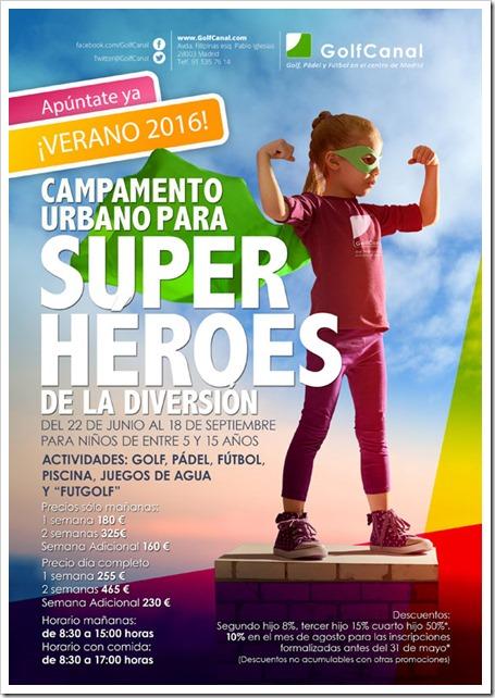 Campamento Urbano GolfCanal 2016: Superhéroes de la Diversión este verano.