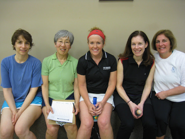 All smiles!  Ruth Rothstein, Mary Ni, Rhonda Lake, Jane Wiseman, Lisa Putukian.