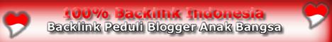 100% Backlink Indonesia