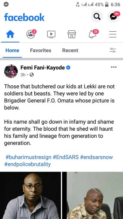 Brigadier General F.O. Omata Led Lekki Killing - Femi Fani-Kayode (Photos)