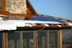 Finally enough sun to melt the snow off the western-facing solar panels!