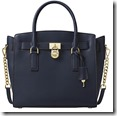 Michael Michael Kors Navy Hamilton Chain Handle Tote