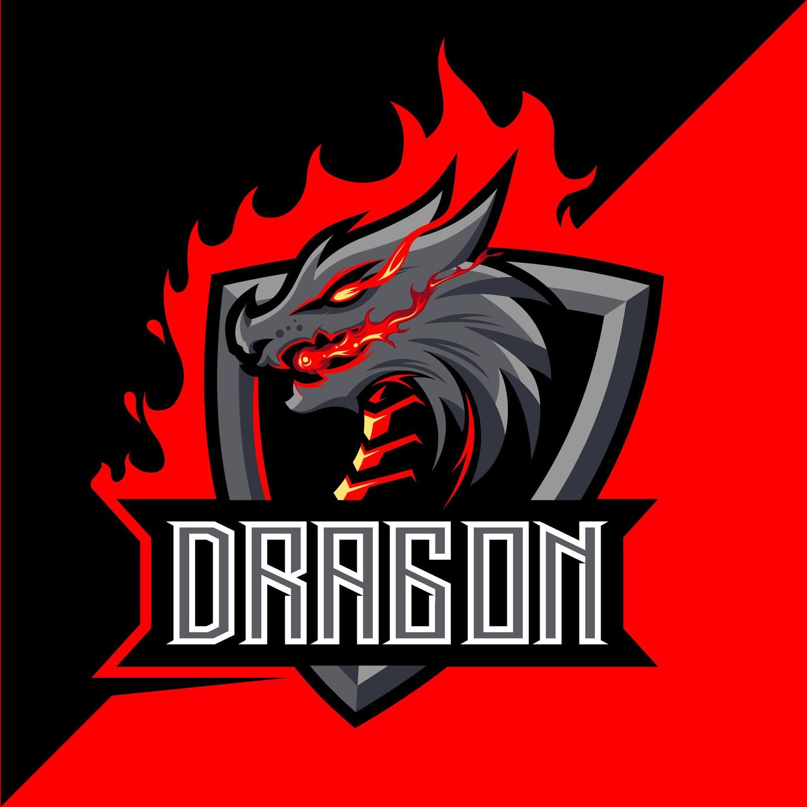 Dragon Fire Mascot Esport Logo Design Free Download Vector CDR, AI, EPS and PNG Formats