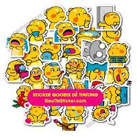 sticker khủng long vàng qoobee