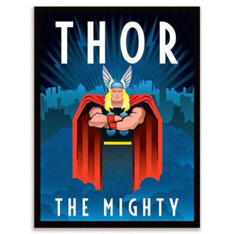 retro Thor canvas