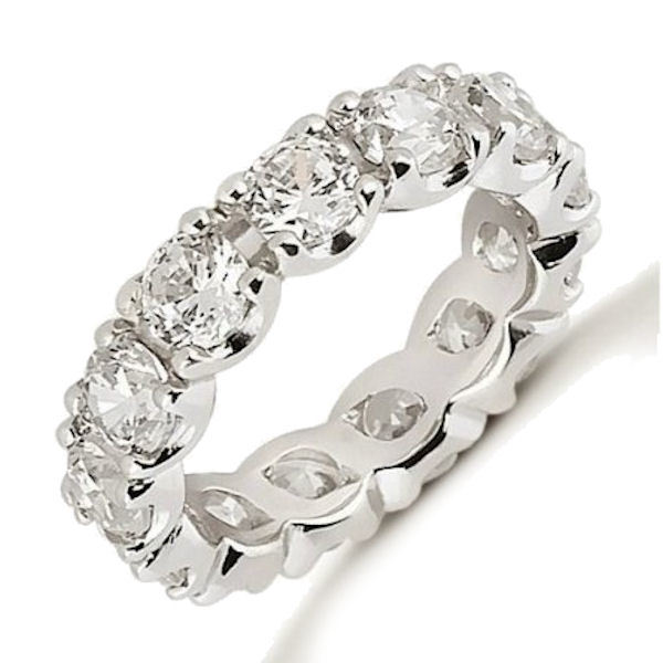 Platinum 4.55 ct tw Diamond Eternity Ring