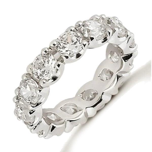 Platinum 4.55 ct tw Diamond Eternity Ring