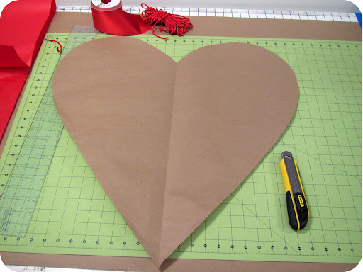 Make sure you like the shape of your heart when you unfold it. This is your template.