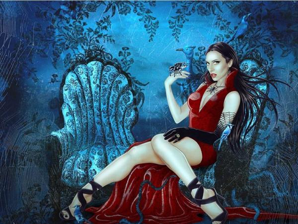Anxious Baroness Smile, Gothic