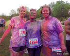Pam, Julie and I, showing off our colors!