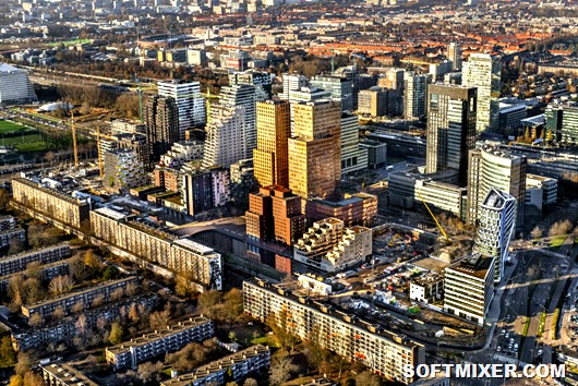 (FILE) NETHERLANDS Aerial financial district Amsterdam