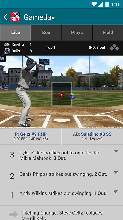 MiLB First Pitch- screenshot
