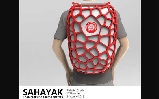 480222cd36f His Sahayak load-bearing backpack consists of an aluminum mechanical frame  that forms a platform over the wearer s head to hold the luggage.