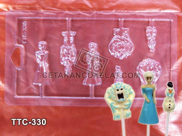 cetakan coklat frozen elsa ana olaf kristov ttc330 princess disney
