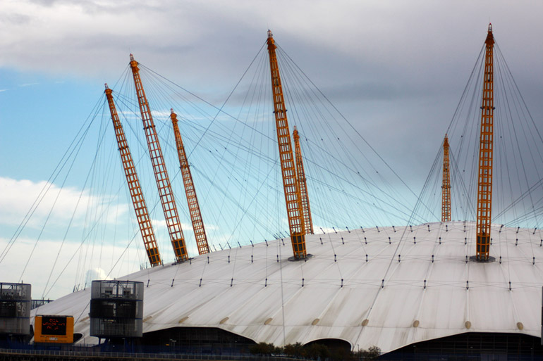 london architecture the o2 arena close up