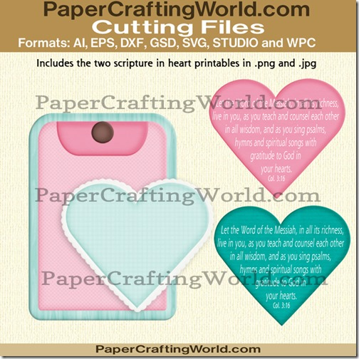 heart and tag SVG Cut File