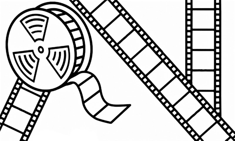 Día mundial del patrimonio visual para colorear, cine para colorear, pintar e imprimir