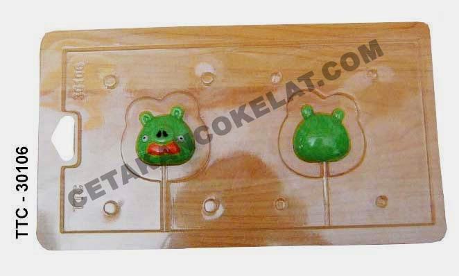 Cetakan Coklat Babi TTC30106 Pig Angrybird