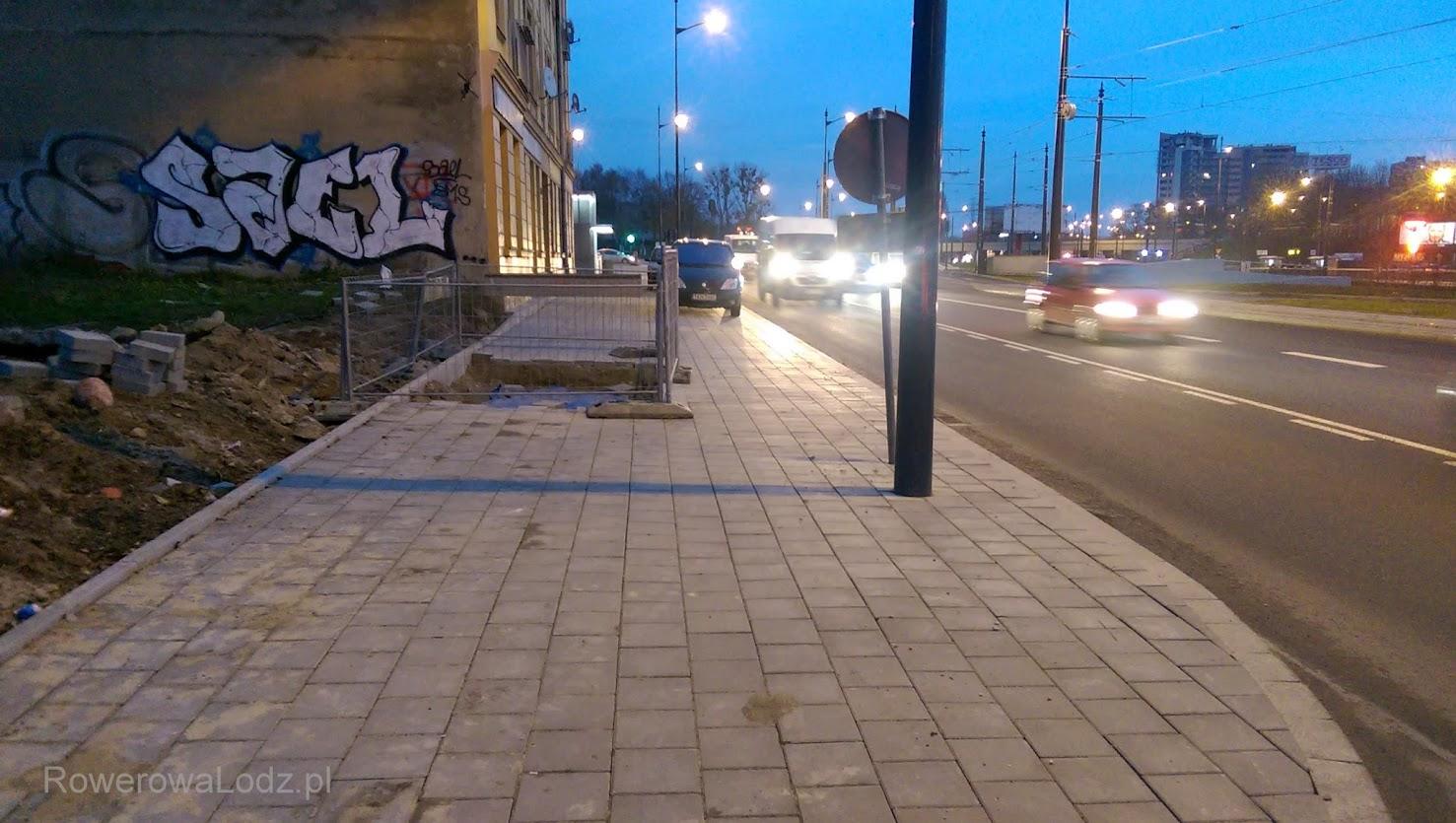 Może ktoś uznał, że to za mała przestrzeń aby zbudować drogę dla rowerów?