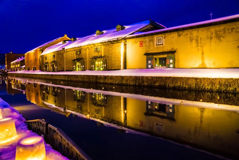 小樽運河 夜景 写真2